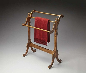 """Newhouse Vintage Oak Blanket Stand 29.5""""W by Butler Specialty"""
