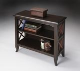 "Newport Black & Cherry Low Bookcase 32""W by Butler Specialty"