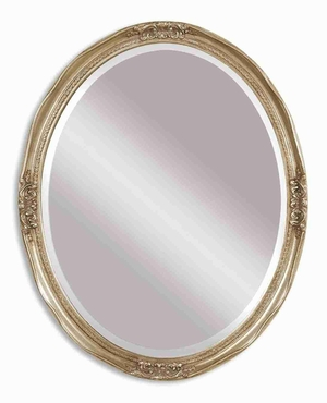 Newport Silver Vanity Wall Mirror with Antique Silver Leaf Finish Brand Uttermost