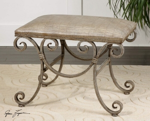 Nice Looking Leontina Small Bench To Enhance The Sitting Capacity Brand Uttermost