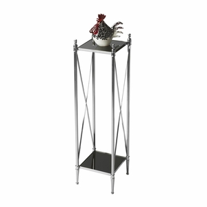 """Nickel Pedestal Plant Stand 9.25""""W by Butler Specialty"""
