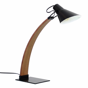 Noah Table Lamp in Walnut and Black by LumiSource