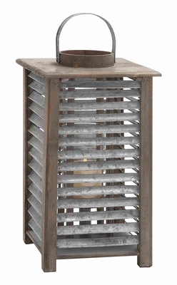 Non Corrosive Metal Lantern with Sturdy Design for Heavy Use Brand Woodland
