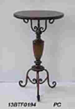 Non Corrosive Metal Round Table in Antique Brown color Brand Woodland