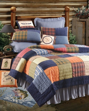 Northern Plaid Quilt - 2 Shams Only Brand C&F