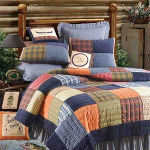 Northern Plaid Quilt Handmade Luxury Cal Queen  Quilts Brand C&F