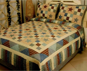 Nostalgia Blue Quilt King Size, Handmade Cotton Quilt Brand Elegant decor