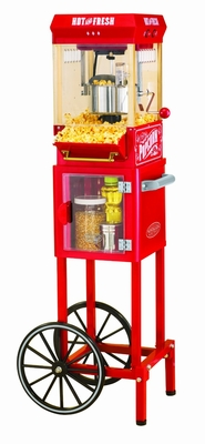 "Nostalgia Electrics KPM200CART 48"" Vintage Collection Popcorn Cart"