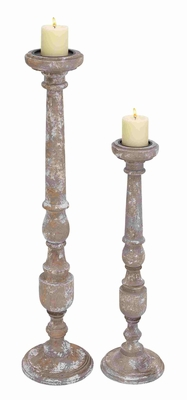 Novara Noteworthy Embellished Candle Holder Set - 28515 by Benzara