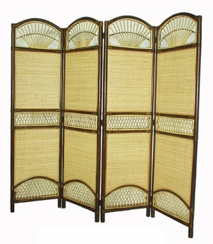 Nuremberg Four-Panel Screen Divider, Aesthetic Art Embellishment by D-Art