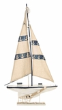Ocean Harbor Sailboat Decor With Fishing Net Brand Woodland