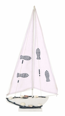 Ocean Harbor Sailboat Decor With Nautical Rope Brand Woodland