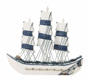 Ocean Harbor Trade Sailing Ship Decor With Nautical Rope Brand Woodland