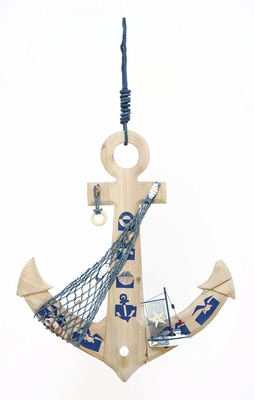 Ocean Harbor Weighing Anchor Decor With Fishing Net Brand Woodland