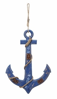 Ocean Harbor Weighing Anchor Decor With Nautical Rope Brand Woodland