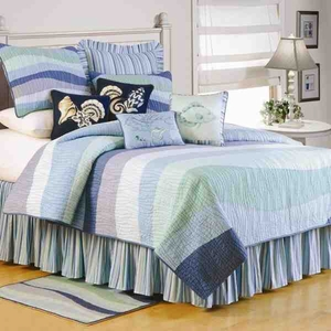 Ocean Wave Quilt Handmade Luxury Cal King  Quilts Brand C&F
