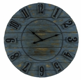 Oceanic Blue Finish Striking Schell Clock by Cooper Classics
