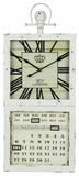 Off White Finish Fascinating Jarron Clock by Cooper Classics