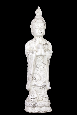 Okazaki Stoneware Antique Stoneware White Buddha by Urban Trends Collection