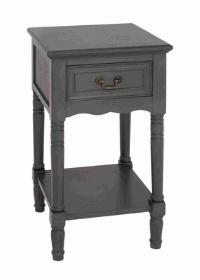 Old Fashioned and Elegant Wooden Night Stand Brand Benzara