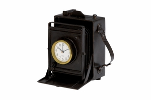 Old Style Camera Clock - 51647 by Benzara