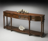 "Olive Ash Burl Console Table 72""W by Butler Specialty"