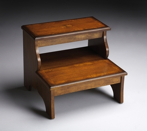 """Olive Ash Burl Step Stool 18""""W by Butler Specialty"""