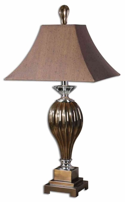 Omari Bronze Table Lamp with Crystal Detailing Brand Uttermost