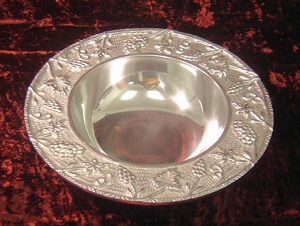 On Sale-Pewter Nautical Fruit Snack Serving Bowls Brand Wild Orchid