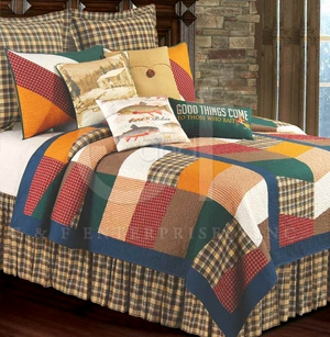 On The River Oversized Queen Quilt with 100% Cotton and Cotton Fill Brand C&F