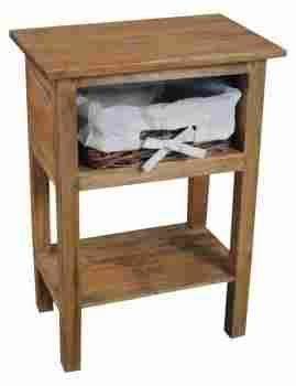 One Rattan Drawer Side Table with Sleek & Sturdy Design Feature Brand Woodland