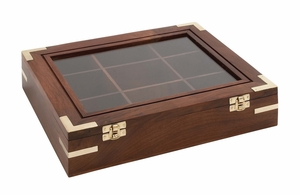 Opaque Styled Attractive Wood Box by Woodland Import