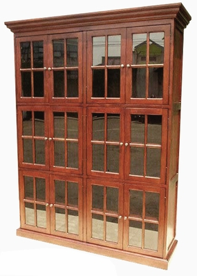 Opava Twelve Door Library Bookcase, Refined And Spectacular Creation by D-Art