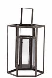 Open Panel Design Modern Metal Lantern w/ Holder