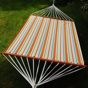 Orange stripe 13' Fabric hammock by Alogma