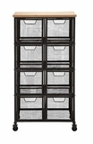 Organize With Metal Wood Storage Cabinet by Woodland Import