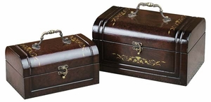 Orient Cruise Wood Boxes Set with Metal Handle - Set of 2 Brand Woodland