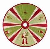 Ornamental Santa Christmas Tree Skirt, 54 Inch Brand C&F