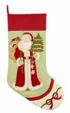 Ornamental Santa Stocking Pair, 8.5 Inch  X 20 Inch Brand C&F