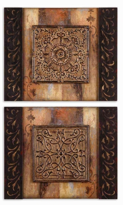 Ornamentational Block Frameless Art - Set of 2 Brand Uttermost