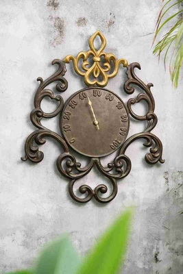 Ornate Fleur De Lis Thermometer Brand SPI-HOME