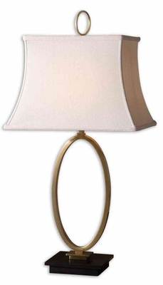 Orpaz Bronze Table Lamp with Marble Base in Black Brand Uttermost