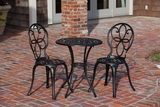 Oslo Three-piece Bistro Set, Antiqued and Outstanding Home Decor by Well Travel Living