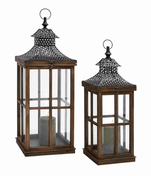 Ostrava Candle Lantern Set Dazzling And Precious Creation Brand Benzara