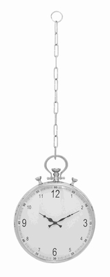 Metal Hanging Wall Clock In A Classic Pocket Watch Design - 27870 by Benzara
