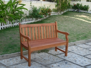 Outdoor 2-Seater Henley Bench by Vifah