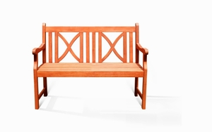 Outdoor 2-Seater Softcross Bench by Vifah