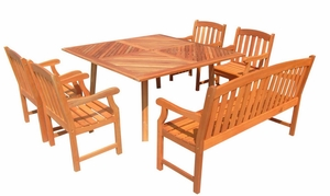 Outdoor Dining Set with Square Table - Set by Vifah