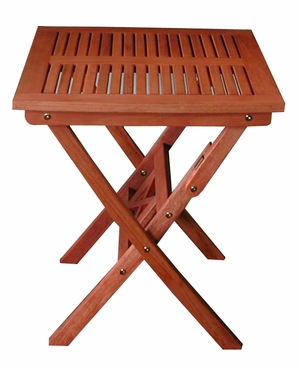Outdoor Eucalyptus Folding Bistro Table by Vifah