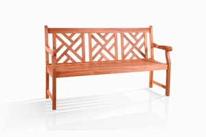 Outdoor FSC Eucalyptus Bench by Vifah